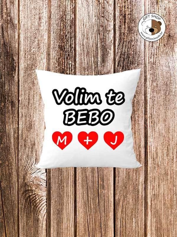 JASTUK---VOLIM-TE-BEBO-personalizirani-jastuk-dodaj-tekst-po-želji-plisanimedo.hr