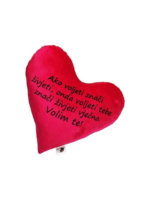 Personalizirani jastuk – srce – tekst po želji
