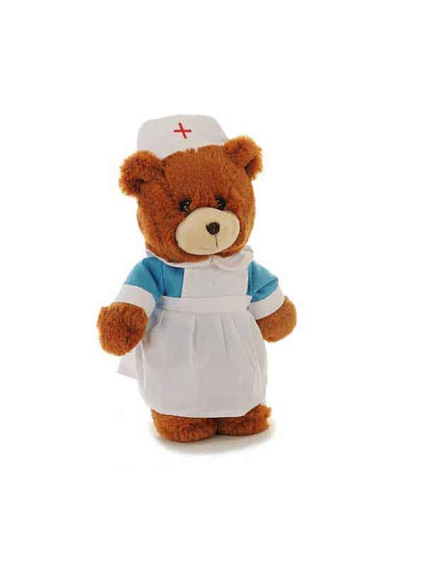 Plišani medo – medicinska sestra 28cm