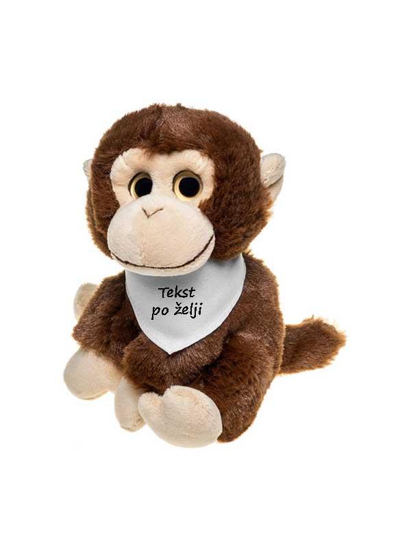 Plišani majmun 14cm – s tekstom po želji