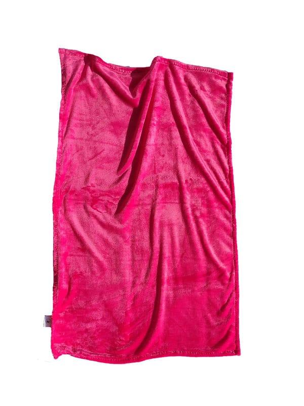 Flanel dekica – tamno roza