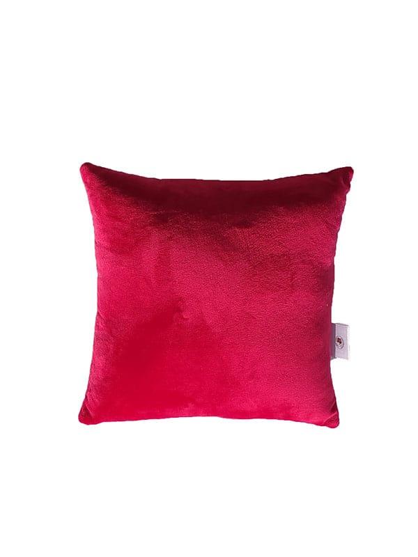 Plišani jastuk – tamno rozi