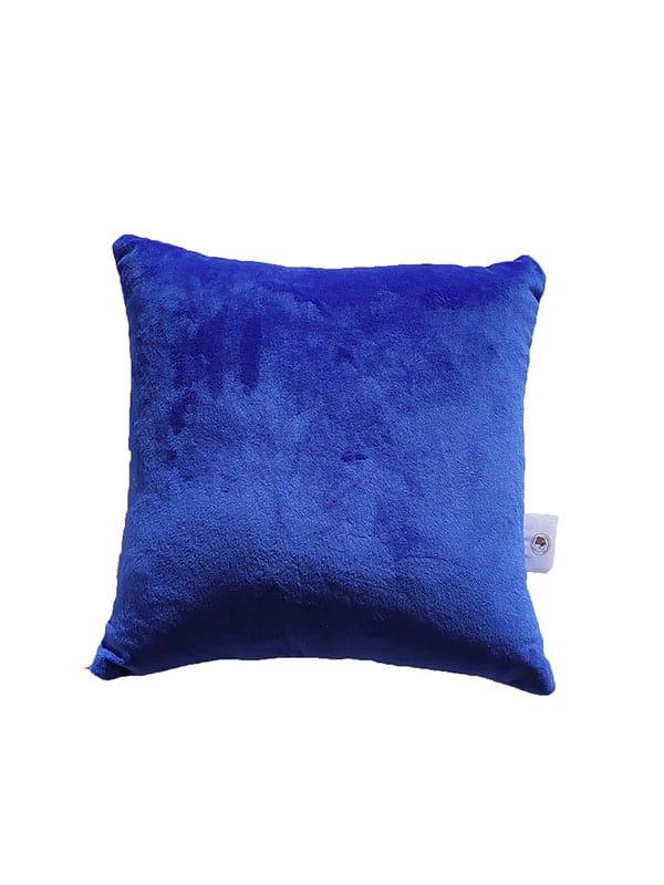 Plišani jastuk – tamno plavi